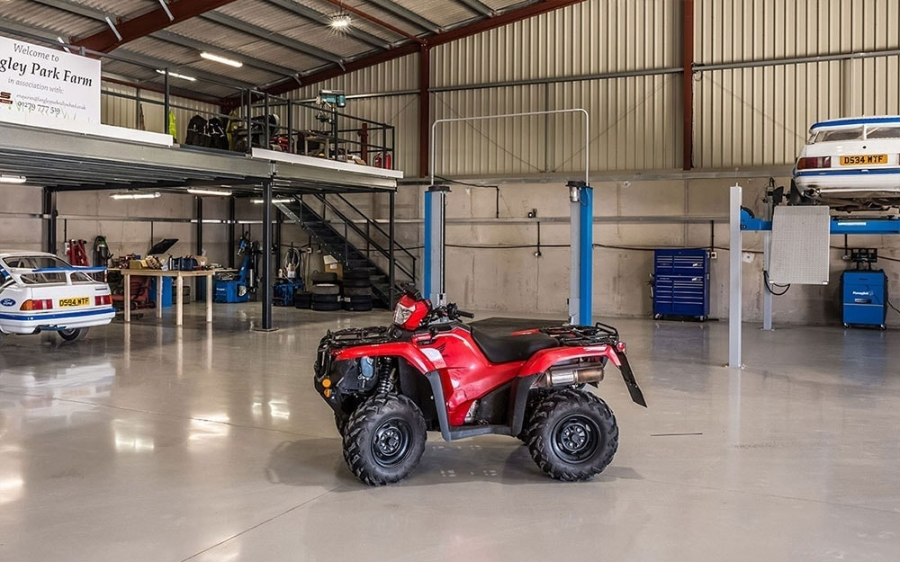 Quadbike at Langley Park Rally School